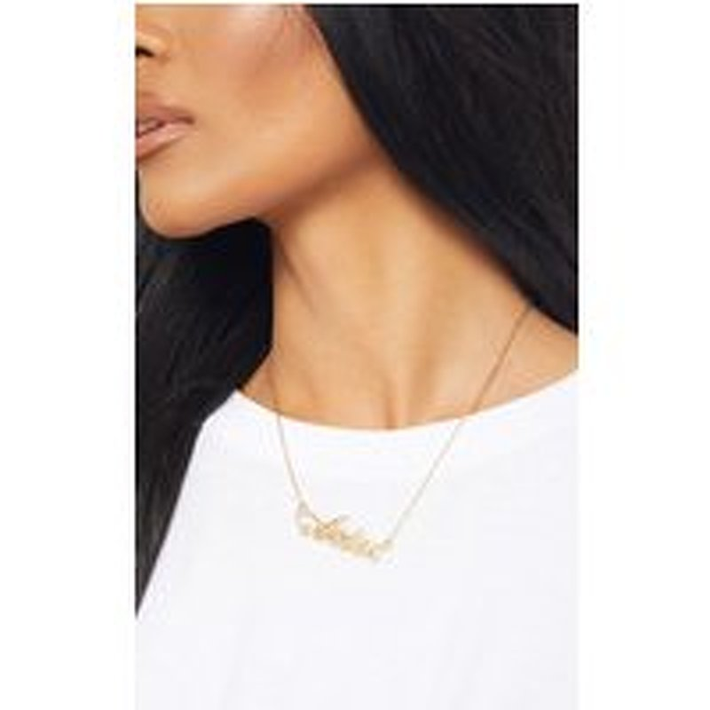 Gold Diamante Aries Star Sign Necklace