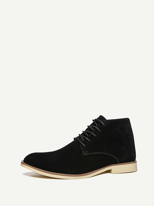 Men Lace Up Suede Boots