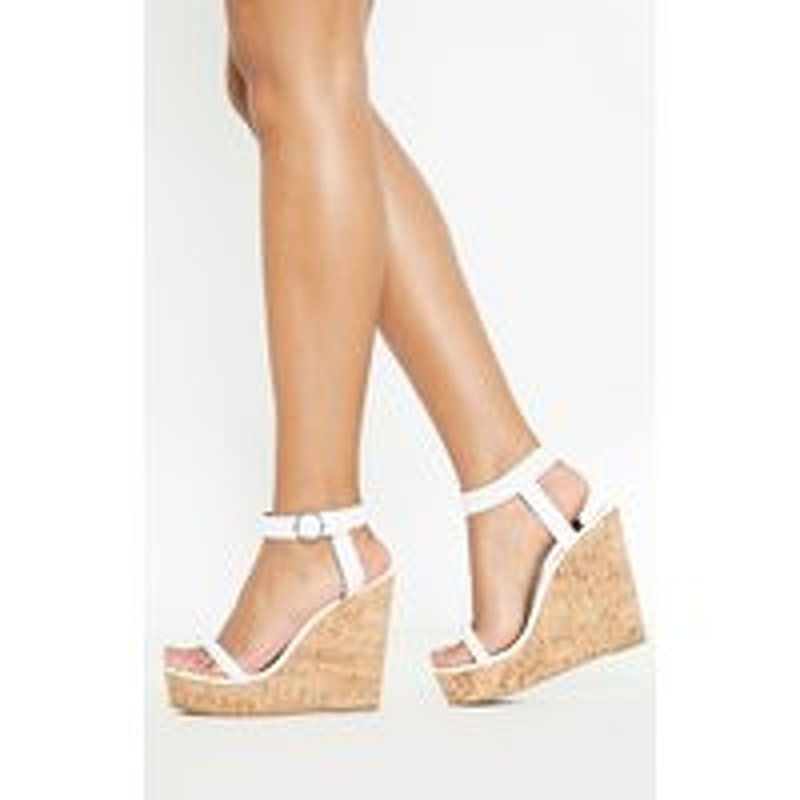 White Tube Strap Wedge